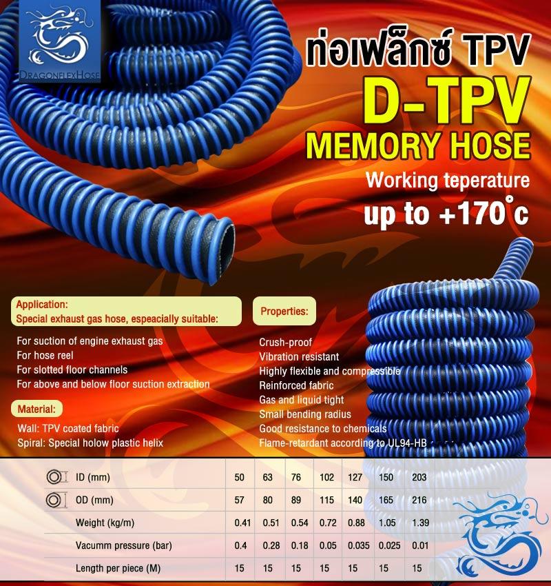 ท่อเฟล็กซ์ TPV Memory hose