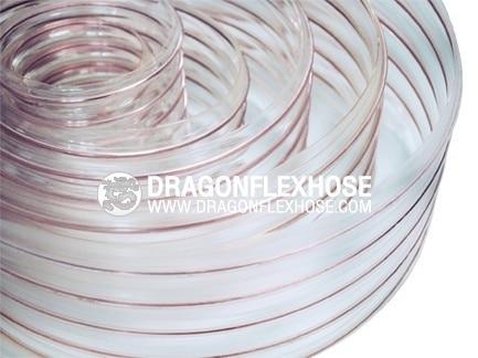 ท่อดูด-ส่ง โพลียูริเทนใสไส้ลวดสปริง D - PU Flex