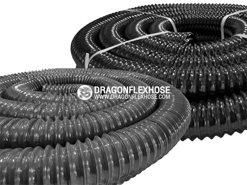 ท่อโพลียูรีเทนไส้ลวดสปริง สีดำ / สีเทา D-PU6 (Germany)